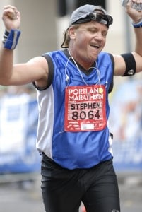 Portland Marathon 2007 finish line
