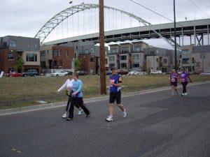 Portland marathon mile 6