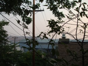 Smoggy smoky skies over the entire SF bay area