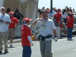 (My first half marathon back in 2005)