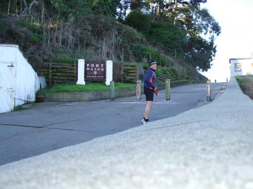 The climb up to Ft. Mason