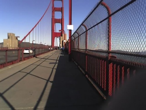 I had almost the whole bridge to myself