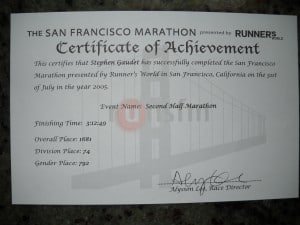 finisher certificates 012