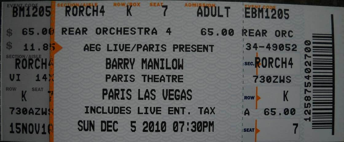 Barry Ticket